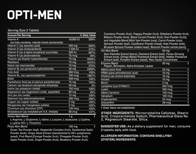 Opti-Men 150 tab Optimum Nutrition